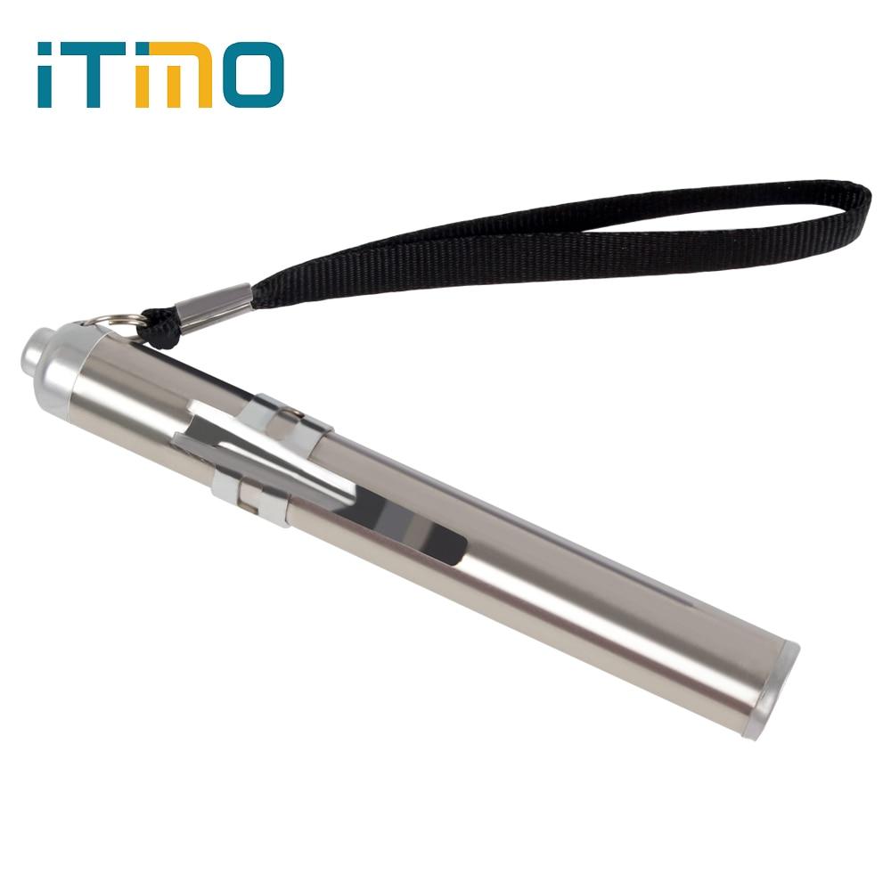 ITimo Torches Lanterna Flash Light LED Flashlight Mini Round Moon Shape Stainless Steel