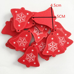 1pcs Red Christmas Wooden Love/Heart/Star Tree Hanging Ornaments Christmas Tree Hanging Decoration Xmas Tree Decor Kids Gifts 6