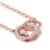 DOUBLE-R 0.095ct Ronda Rosa 18 k Oro Genuino Diamante Collares Colgantes Mujeres Joyería de La Boda Romántica Personalizada CANL00280KA-3