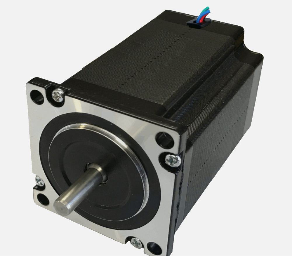 цена на New Leadshine 60CM30X NEMA 24 stepper motor with 3.0N.m (425 oz-in) holding torque 2 phase step motor 4 wires shaft size 8 mm