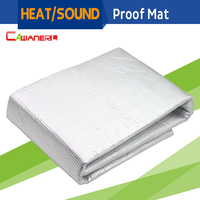 80CM X 100CM Car Heat Thermal Shield Sound Proof Exhaust Muffler Deadener Insulation Mat Pad Deadening