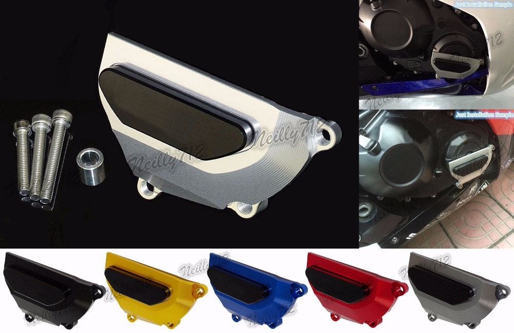 Motorcycle Right Engine Clutch Case Crash Slider Protector For Honda CBR1000RR CBR 1000 RR 2008 2009 2010 2011 2012 2013-2017 free shipping motorcycle engine cover frame sliders crash protector for honda cbr1000rr 2008 2009 2010 2011 2012