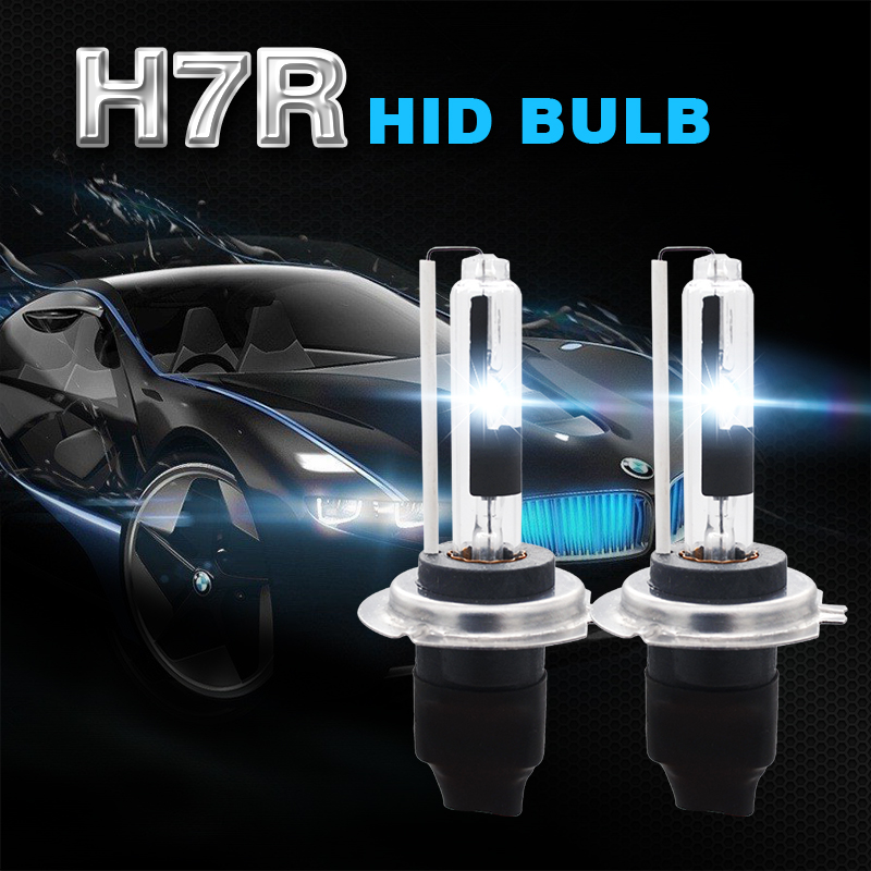 H7R 6000K 35W HID Xenon Replacement Bulb Headlight Anti Glare Bulbs Blue White