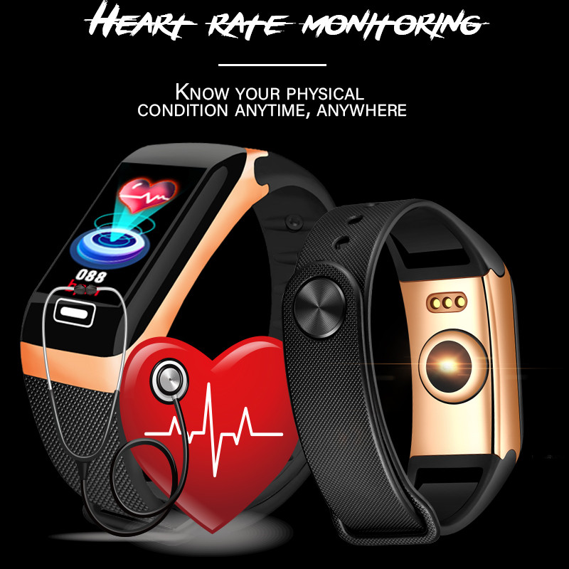 Image 3 - LIGE Smart Bracelet Health Monitor Heart Rate / Blood Pressure / Waterproof Pedometer Men's and Women's Watches Sports Bracelet-in Smart Wristbands from Consumer Electronics