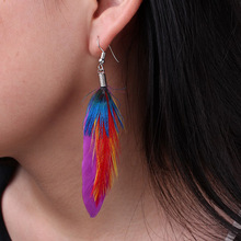 Boho Style Handmade Elegant Feather Drop Earings Lady Earing Accessories Vintage Long Earrings For Women Jewelry