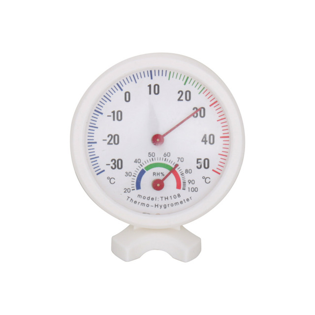 Kitchen Household Thermometers Useful White Baby House Room Round  Thermometer Wet Hygrometer Temperature Meter