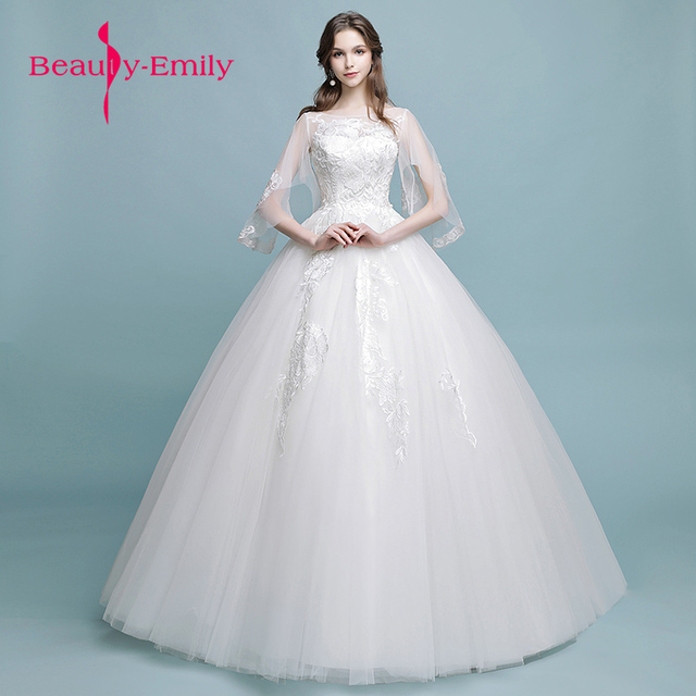 Beauty Emily Wedding Ball Gown Wedding Dress Elegant White half ...