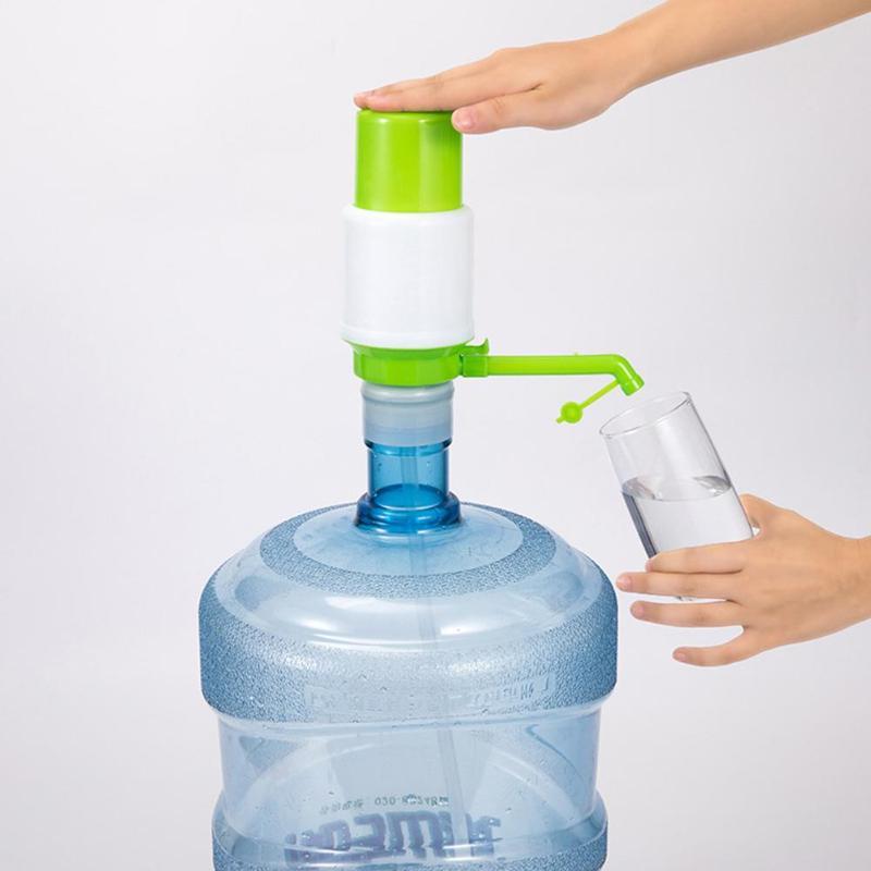 Manual Hand Pressure Drinking Water Dispenser Plastic Water Bottle Pump Dispenser Portable Hand Press Water Dispenser