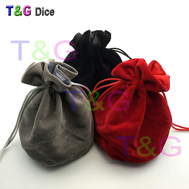 """TOP Quality Dice bag Jewelry Packing Velvet bag 6*5.5"""" Velvet Drawstring bags & Pouches for gift game for Board Game"""