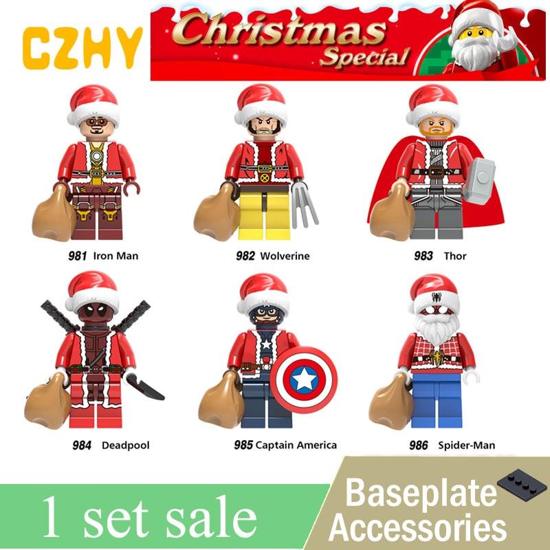 2018 New Merry Christmas Darth Vader Yoda Deadpool Joker Granny Santa Claus Building Blocks Toys for Children X0222 fire granny 2018 11 20t20 00