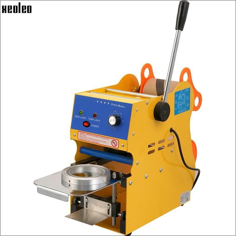 Xeoleo Tasse d'étanchéité Machine Manuel Tasse scellant 9/9. 5 cm tasse Manuel Bulle thé machine à Café/lait De Soja tasse UE/ROYAUME-UNI/UA/US 220 V/110 V
