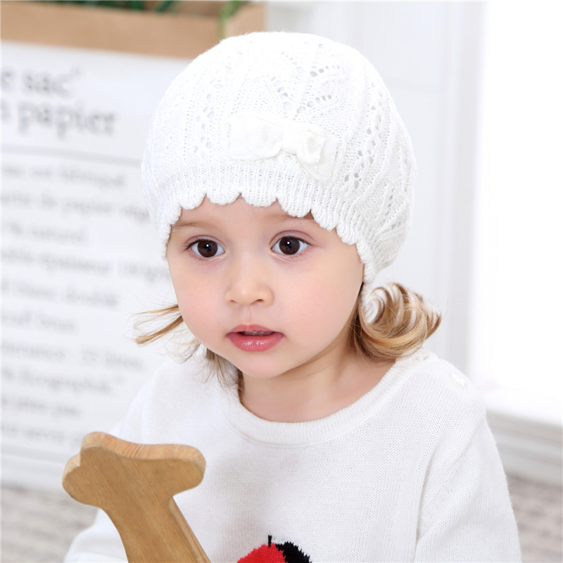 82a728a1b6678 Detail Feedback Questions about Winter Cotton Caps Sweet Baby Girls Knit  Twist Shape Beret Hat Infant Kids Solid Warm Keeping Hat with Bow knot  Decor on ...