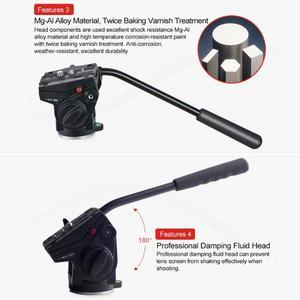 Image 5 - Kingjoy VT 3510 Aluminum Alloy Video Tripod Head 360 Degree Panoramic Camera Stand Fluid Damping Holder