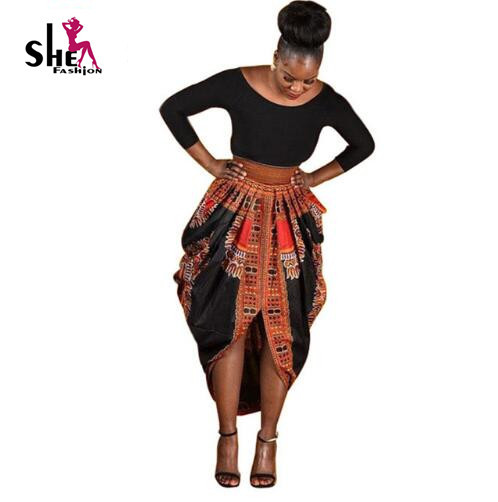 Оптовая Африканские платья для женщин Dashiki отпечатано Платья Женская Одежда С Длинным Рукавом Для женщин плюс размер африканская одежда