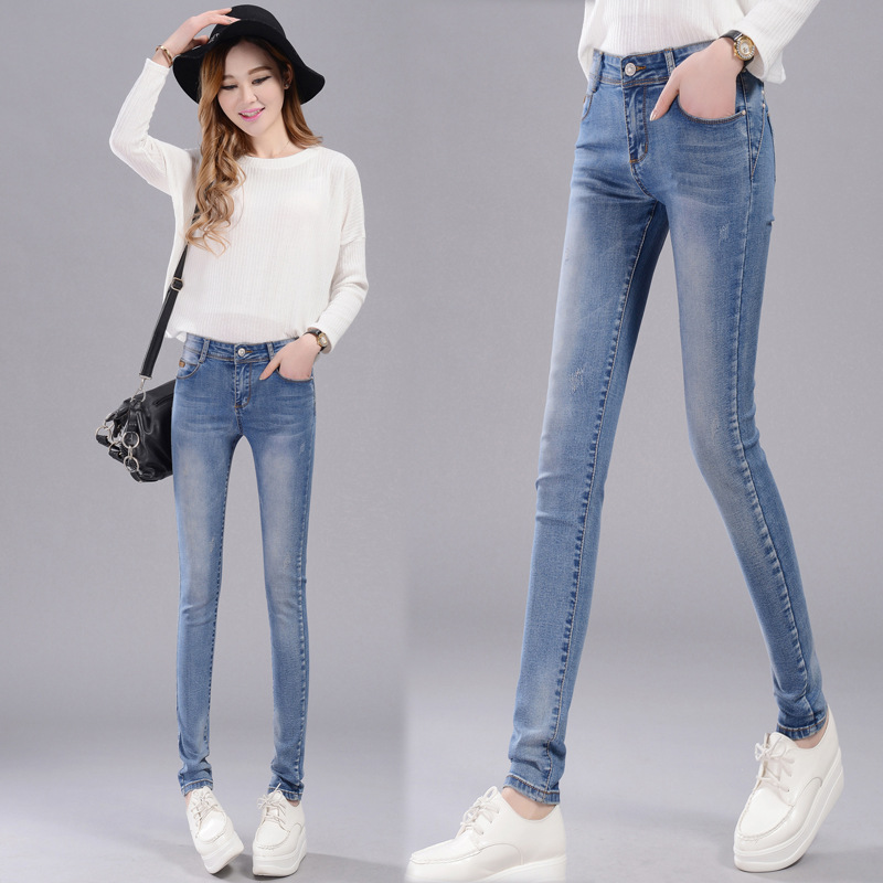 Boyfriend Jeans For Women Real New American Apparel In The Spring Of 2016 Slim Feet Pencil Pants Wholesale Jeans Taobao Agent dali 14 1 11а