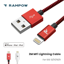 105a383347a RAMPOW Certificado de IMF Cable Lightning para iPhone Cable 3.3ft/6.5ft  cargador de. 2 colores disponibles