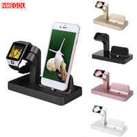 2 In 1 Charging Dock Station Bracket Cradle Stand Holder Charger for IPhone X 8 7 6S Plus 5S Dock for Apple Watch Iwatch Charger