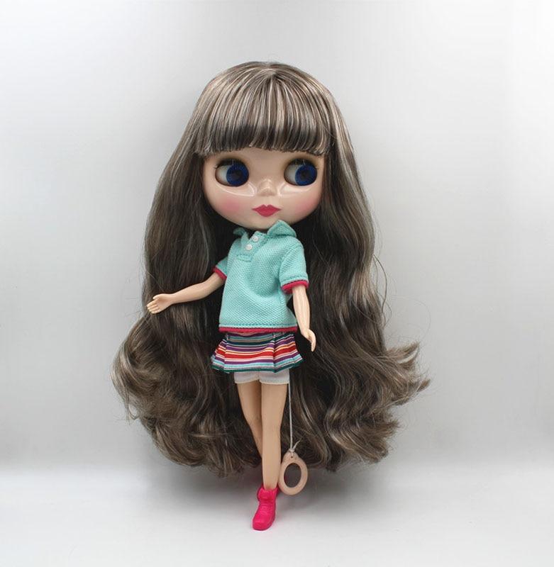 Free Shipping big discount RBL-469 DIY Nude Blyth doll birthday gift for girl 4colour big eye doll with beautiful Hair cute toy