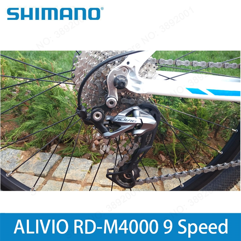 Bicycle Derailleur Original Shimano Alivio Bicycle Rd-m4000 9-speed Mountain Bike Rear Derailleur 27 Speed Black