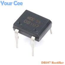 100pcs Original DB107 1A 1000V Silicon Bridge Rectifier with Pin