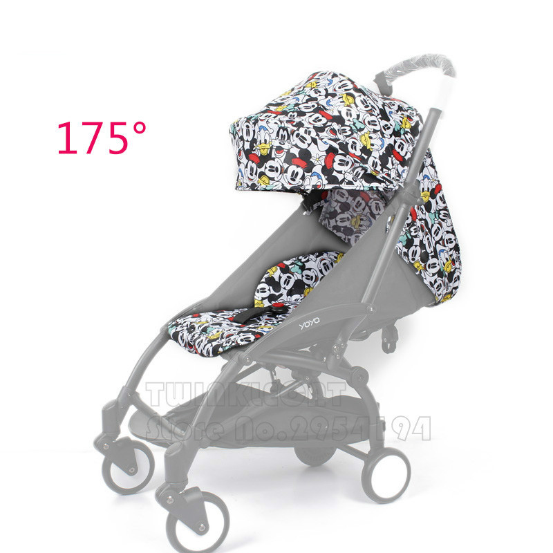 Fashion 30 Colors Yoya 175 Degree Sun Cover and Seat Cushion Set Babyyoya Yoyo Baby Stroller Accessories Sun Cover Canopy Seat original baby stroller accessories 175 cushion seat brethable cloth linen material for yoya yoyo babyzen babythrone stroller
