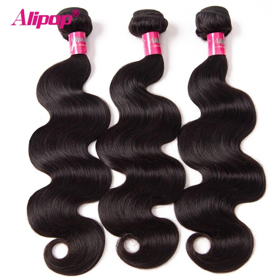 3 Bundles Malaysian Body Wave Bundles Human Hair Bundles Remy Hair Extensions 10 28 Alipop Hair