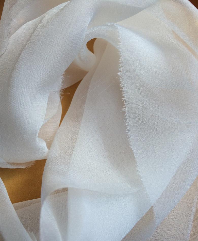 3,5 mm silkki tylli 15 metriä ohut silkki sideharsokangas 100% - Taide, käsityöt ja ompelu - Valokuva 5