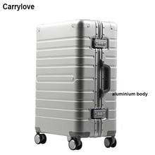 "CARRYLOVE 20 ""24"" 28 ""zoll 100% aluminium magnesium spinner reise koffer trolley roll gepäck für reisen"