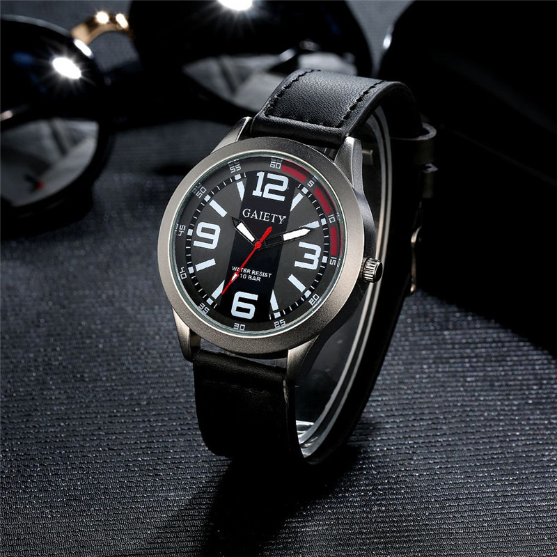2017 luxury brand Men Watch Retro Design Luxury Men's Watch Stainless steel Leather Analog Quartz Watches