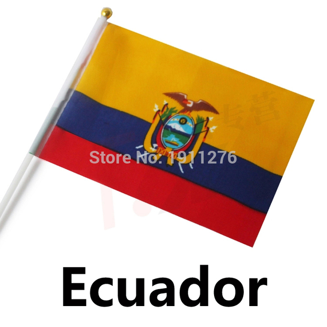 Sizexcm Fashion Ecuador Flag Polyester Hand Waving National - Ecuador flags
