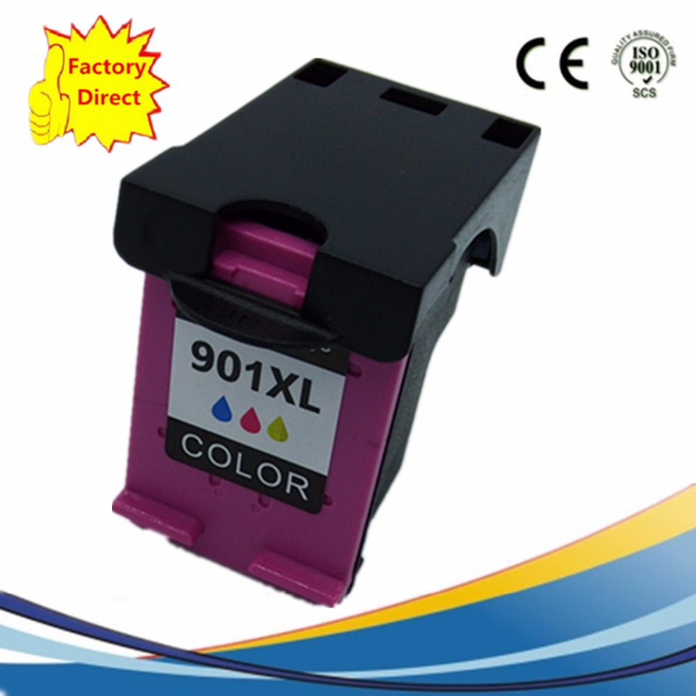 Color Ink Cartridges Remanufactured For HP901 XL 901XL HP901 HP901XL Officejet J 4524 4535 4540 4550 4580 4585 4660 4680 in Ink Cartridges from Computer Office