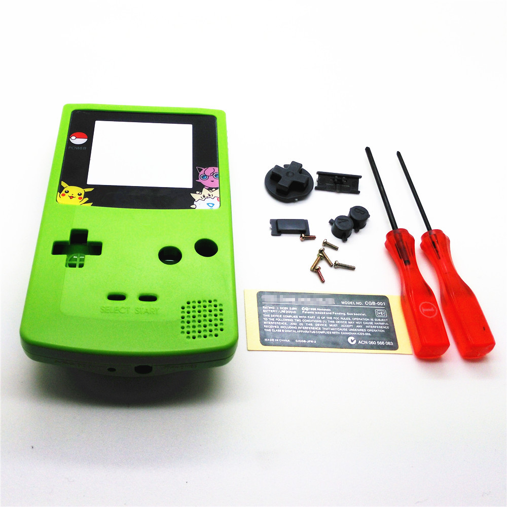 Game boy color online free - Apple Green Full Housing Shell Cover For Gameboy Color For Gbc Console Case With Conductive Rubber
