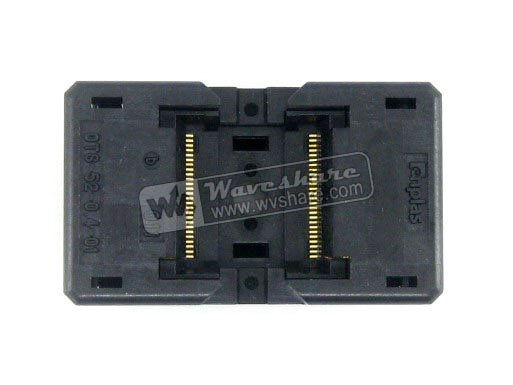 TSOP52 TSOP OTS-52-0.4-01 Enplas IC Test Socket Adapter 8.9mm Width 0.4mm Pitch запчасти для принтера yinke tsop48 tsop 48 48 0 5 12 tsop48 tsop 48 enplas ic 18 4 0 5 ots 48 0 5 12