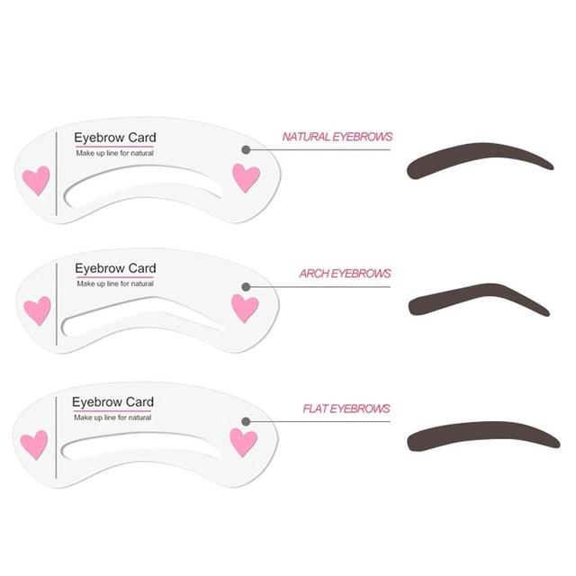 3Pcs/set Eyebrow Makeup Tools Threading Artifact Thrush Aid Card Eyebrows Mold Cosmetic Accessories Hot SaleS1 1
