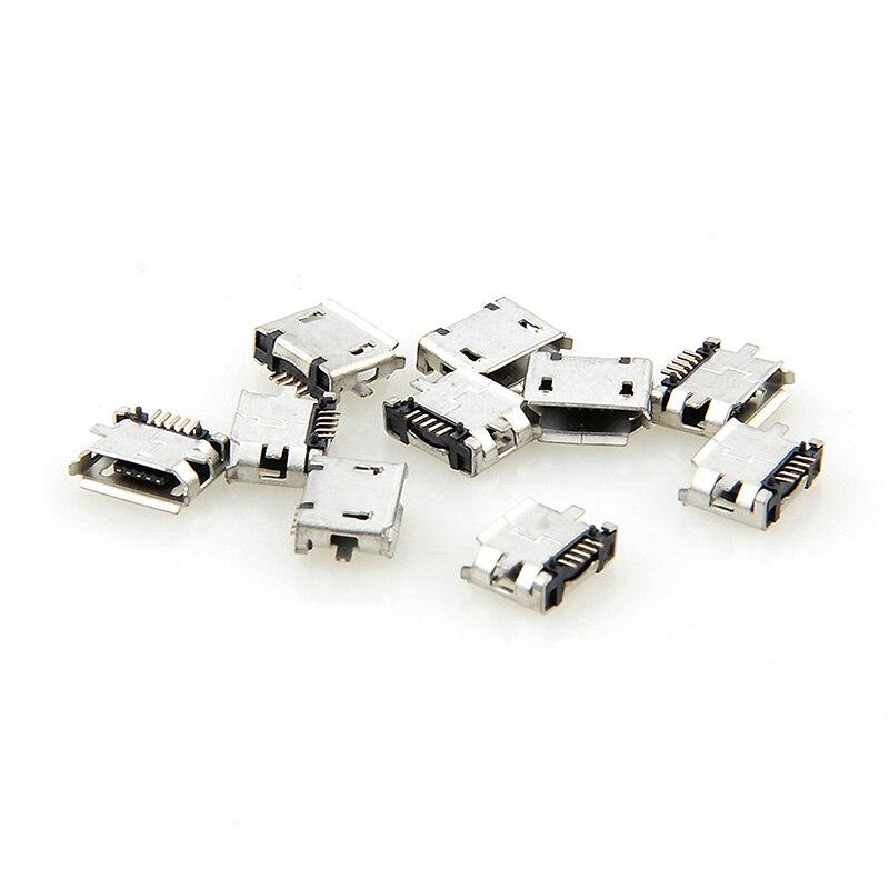 10 pièces Micro USB MK5P 5pin connecteur femelle Micro USB prise de charge droite