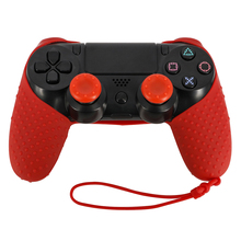 Фотография VPLAY 10pc/lot game case for ps4 New Anti-slip Protective Silicone Case for PlayStation 4 PS4 Pro Slim Controller