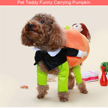 New Funny Festival Perfomance Pet Clothing Personality Teddy Pet Coat Novel Pumpkin cute costume fancy clothes DIY dog clothes