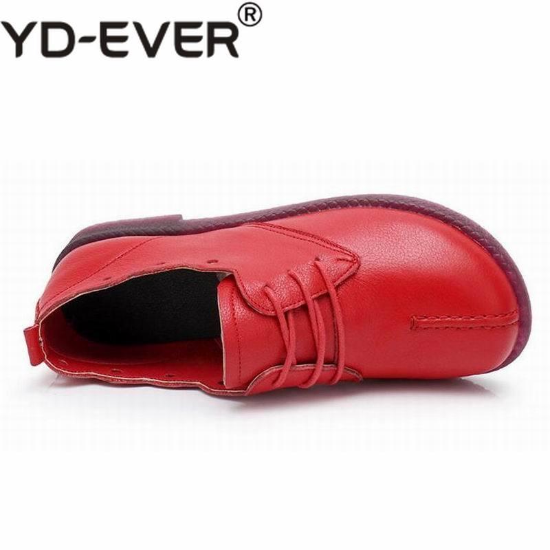 Chaussures En Et Femme Plates Casual ever À Red Cuir Appartements Femmes Douce noir La Véritable jaune Mocassins Confortable rouge Main Mode Yd Wine XZ7Axwx
