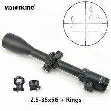 Visionking 2.5 35 × 56ライフルスコープ防水ハイパワー目指す狩猟戦術軍事視力ライフル銃で21ミリメートルマウントリング