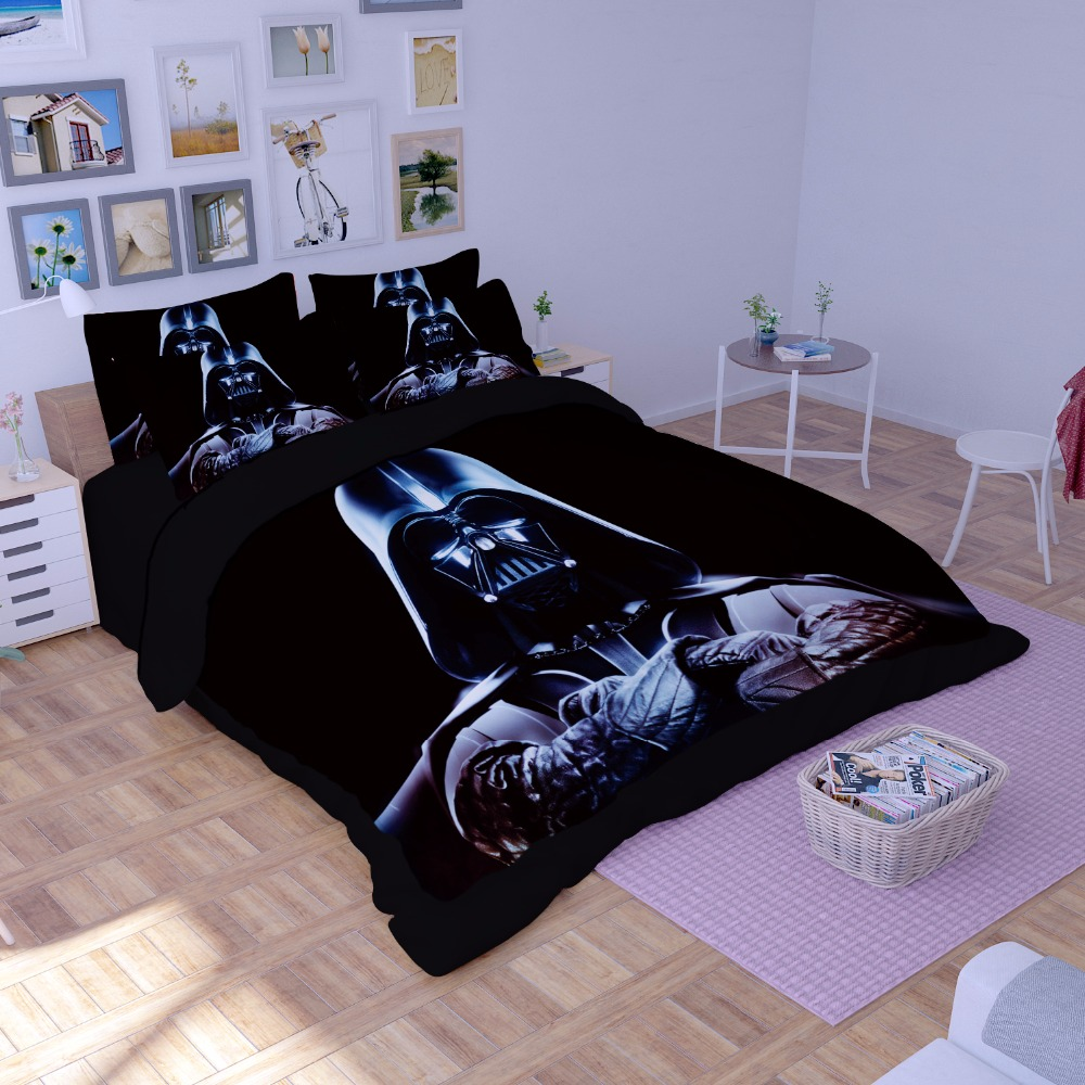Buena calidad Star Wars 3D juego de cama estampado edredón doble completo reina rey hermoso patrón Real juego de cama realista funda de almohada 100% Mulberry seda cama almohada/lujo Rosa oro Natural cabeza almohadas para dormir Material de relleno estilo europeo envío gratis