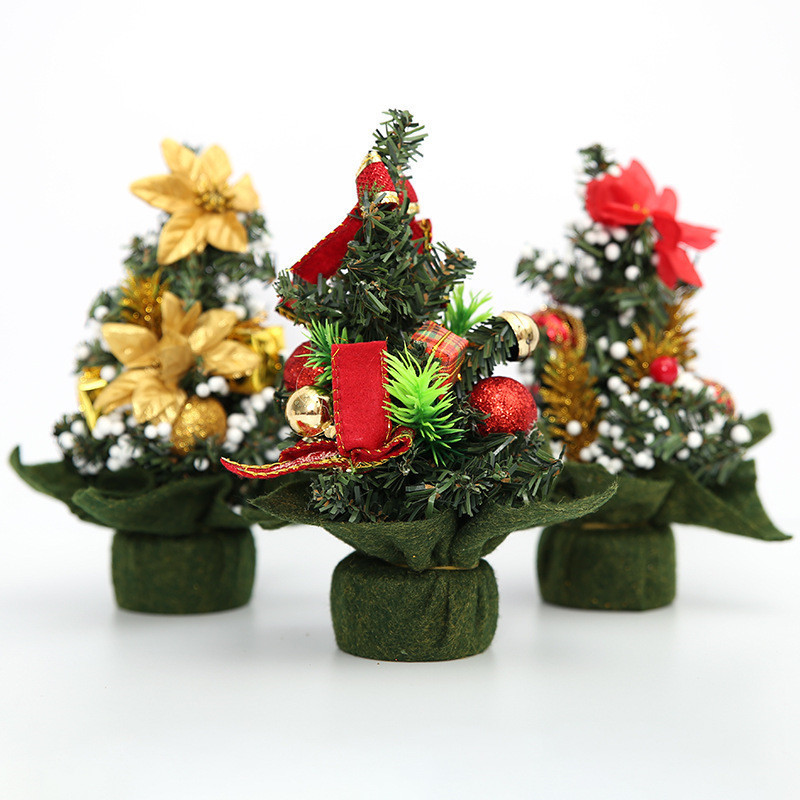 1pcslot mini christmas tree small pine new year table decoration ornaments merry christmas decorations for home xmas trees in trees from home garden on - Mini Christmas Decorations