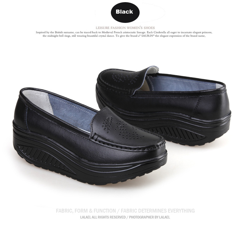 New Womens Shake Shoes Lady Genuine Leather shoes (20)