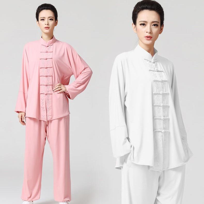 ⊱Bordado tai chi uniformes de manga larga Kung Fu rendimiento ropa ...