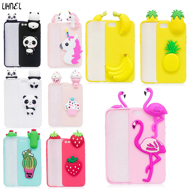 new product 72a06 51bcd US $2.41 7% OFF|3D Cute DIY Cases for iPhone 5 5S SE Panda Horse Red Bird  Cactus Pineapple Case for iPhone X XS MAX XR 6 6S Plus 7 7Plus 8 8Plus-in  ...