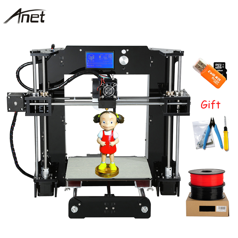 New Anet Auto leveling A6 Impresora 3D Printer Normal A6 Reprap i3 imprimante 3D DIY Kit Aluminum Extruder SD Card PLA Filament палатка normal виктория 3