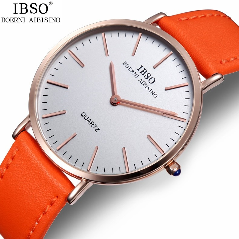 compare prices on watches for thin wrists online shopping buy low fashion quartz watch men casual ultra thin genuine leather band wrist watches ibso brand male round
