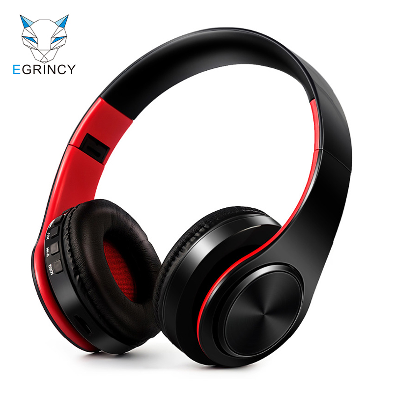 EGRINCY B3 HIFI Stereo Earphone Bluetooth Headphone Music Headset Support TF Card 3.5mm Wired With Mic For Xiaomi iphone Samsung wireless bluetooth headset neckband stereo headphone support fm radio tf card microphone sport earphone for smartphone xiaomi
