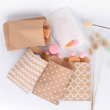 15CM*10CM 50pcs Chevron dot Flower Craft Paper Popcorn bag Food Safe Favor Paper birthday bags Designs of Party Paper Bags
