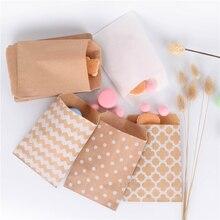 15CM * 10CM 50pcs שברון דוט פרח קרפט נייר פופקורן שקית מזון בטוח לטובת נייר יום הולדת שקיות עיצובים של המפלגה נייר שקיות