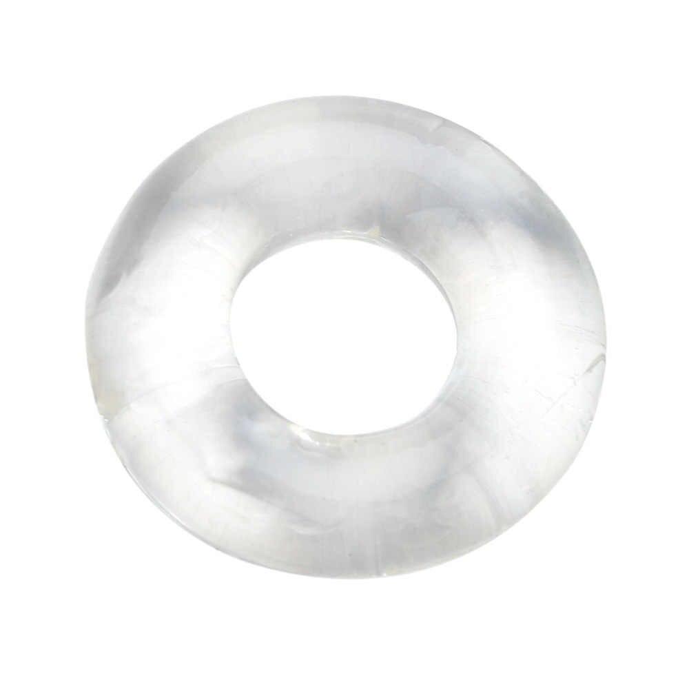3pcs 슈퍼 스트레치 강한 도넛 수탉 반지 페니스 링 섹스 토이 남성 사정 지연 cockring 남성 순결 장치 벨트